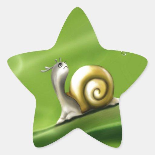 snail under the rain enjoying peace and joy sticker