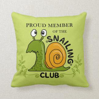 Snailing Club Proud Member Cushion