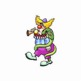 Snake Charmer Clown Standing Photo Sculpture