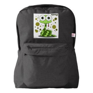 Snake(Green) Backpack, Black Backpack