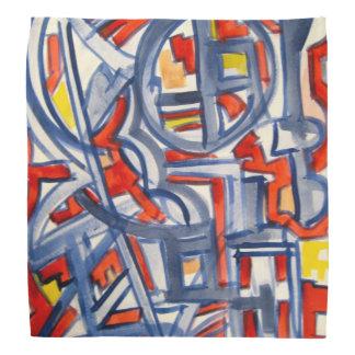 Snake In The Henhouse-Abstract Art Handpainted Bandana
