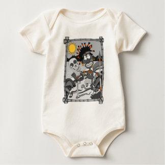 snake man baby bodysuit