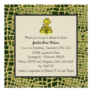 Snake Print Baby Shower Personalized Invitation