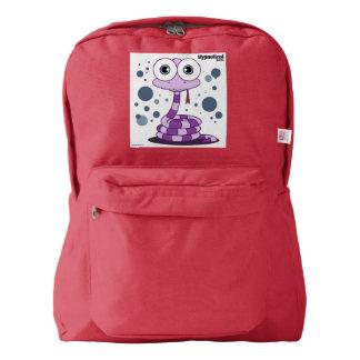Snake(Purple) Backpack, Red Backpack