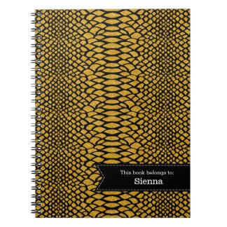 Snake skins notebook
