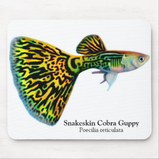 Snakeskin Cobra Guppy Mousepad