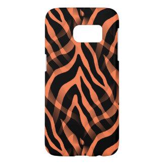 Snazzy Coral Zebra Stripes Print