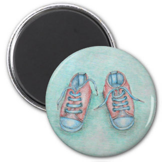 sneaker shoes 6 cm round magnet