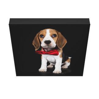 Snoopy Beagle Bowtie Canvas