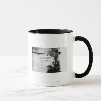 Snoqualmie Falls and Lodge, Washington Photograp Mug