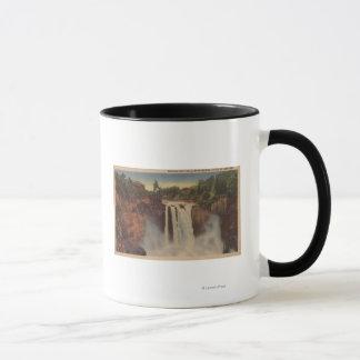 Snoqualmie Falls, WA - View of Falls & Lodge Mug
