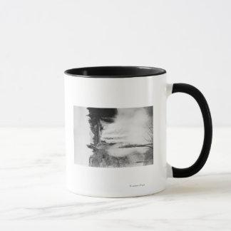 Snoqualmie, WA - Falls and Lodge Photograph Mug