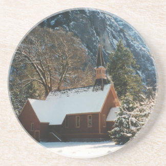 Snow Covered Chapel Coaster