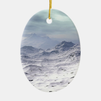 Snow Covered Mountains Christmas Ornament