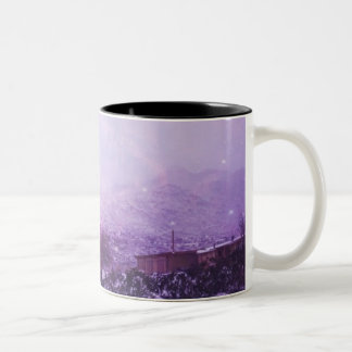 Snow day in the desert Two-Tone coffee mug