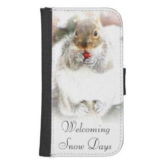 Snow Days Squirrel iPhone or Galaxy S5 Wallet case