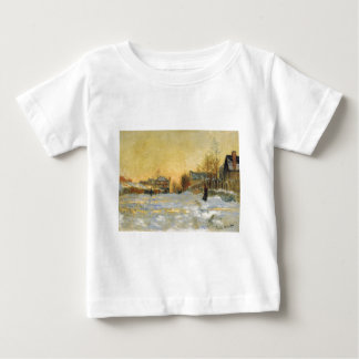 Snow Effect, The Street in Argentuil by Claude Baby T-Shirt