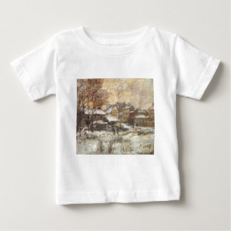 Snow Effect with Setting Sun by Claude Monet Baby T-Shirt