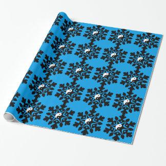 Snow flake - yin yang wrapping paper