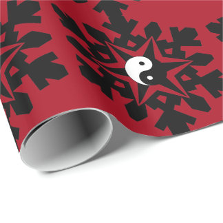 Snow flake - yin yang wrapping paper