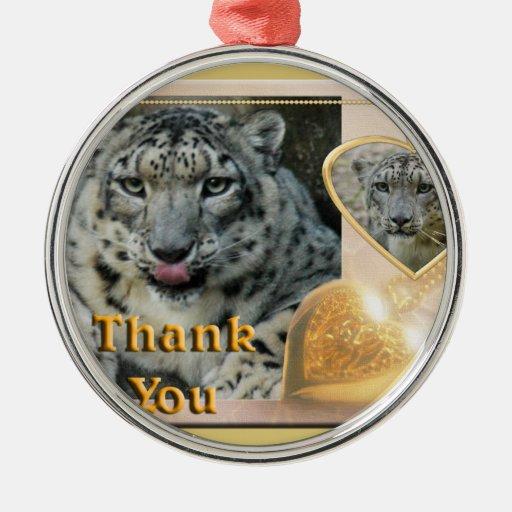 snow-leopard-00457 christmas ornaments