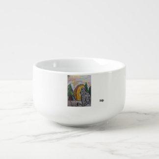 Snow Leopard  art three Soup Mug