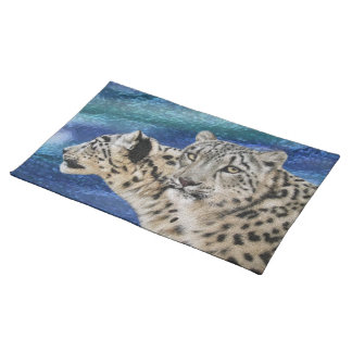 Snow Leopard Habitat American Mojo Placemats