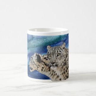 Snow Leopard Habitat Basic White Mug