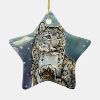 Snow Leopard~ornament Christmas Ornament
