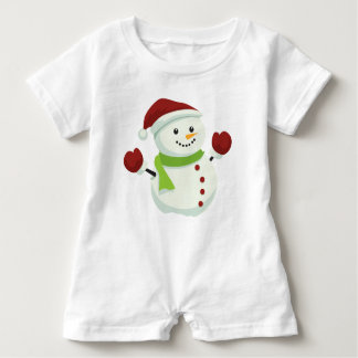 Snow Man Baby Romper Baby Bodysuit
