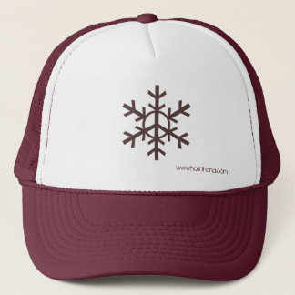 Snow Peace Trucker Hat - Brown logo