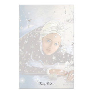 Snow Queen Letter Sheet! Customized Stationery
