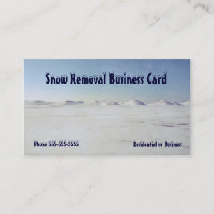 Snow removal business cards zazzle nz snow removal icy lake michigan business card colourmoves