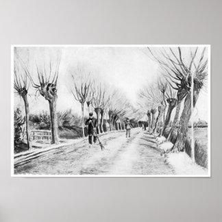 Snow Scene at Etten, Vincent van Gogh Poster