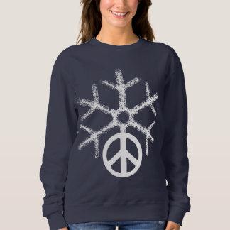Snow with peace sweatshirt