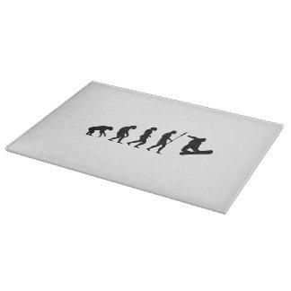 Snowboard Evolution Cutting Board
