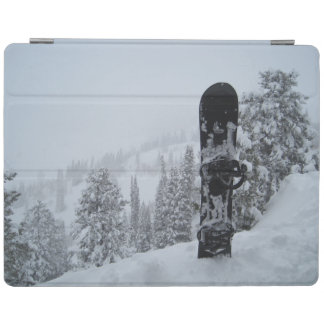 Snowboard In Snow iPad Cover