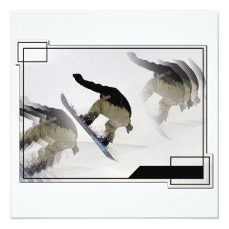 Snowboard Rails Invitaiton 13 Cm X 13 Cm Square Invitation Card