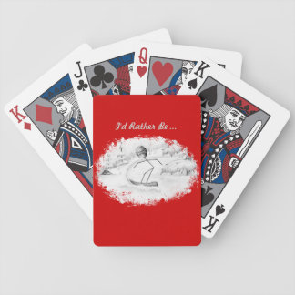 Snowboard Stickman Playing Cards