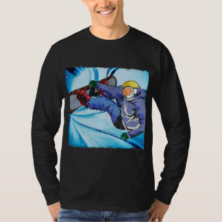 Snowboarder in Edgy Snowstorm T-shirts