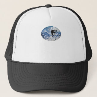 Snowboarder In Flight Trucker Hat