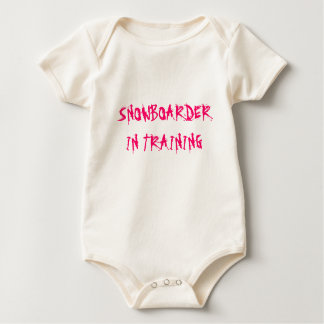 SNOWBOARDER IN TRAINING BABY BODYSUIT