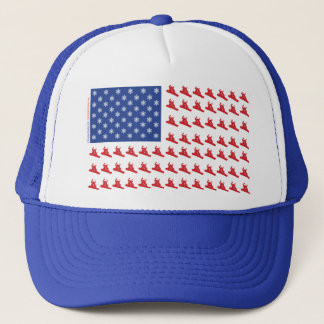 Snowboarder-Patriotic-USA-Flag Trucker Hat