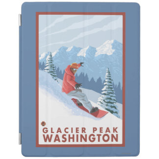 Snowboarder Scene - Glacier Peak, Washington iPad Cover