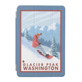 Snowboarder Scene - Glacier Peak, Washington iPad Mini Cover