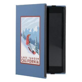 Snowboarder Scene - Lake Tahoe, California Cover For iPad Mini
