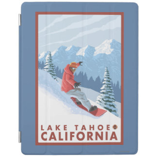 Snowboarder Scene - Lake Tahoe, California iPad Cover