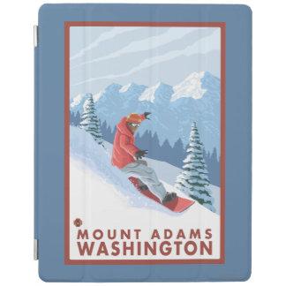 Snowboarder Scene - Mount Adams, Washington iPad Cover