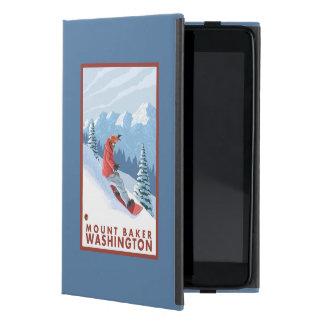 Snowboarder Scene - Mount Baker, Washington Cover For iPad Mini