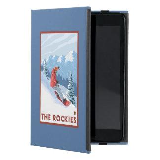 Snowboarder Scene - The Rockies Cover For iPad Mini